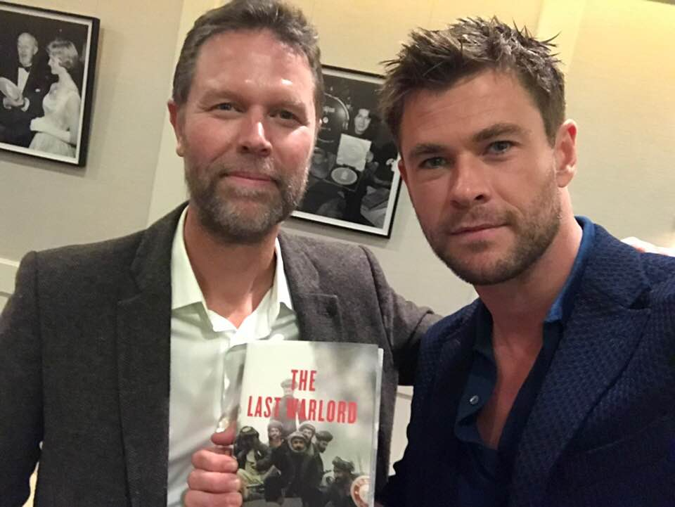 The author and Chris Hemsworth