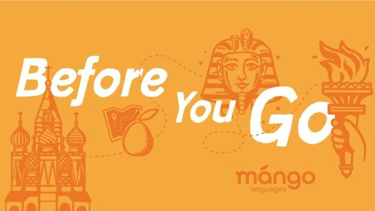 "An orange banner shows icons representing different world cultures. White text reads ""Before you"
