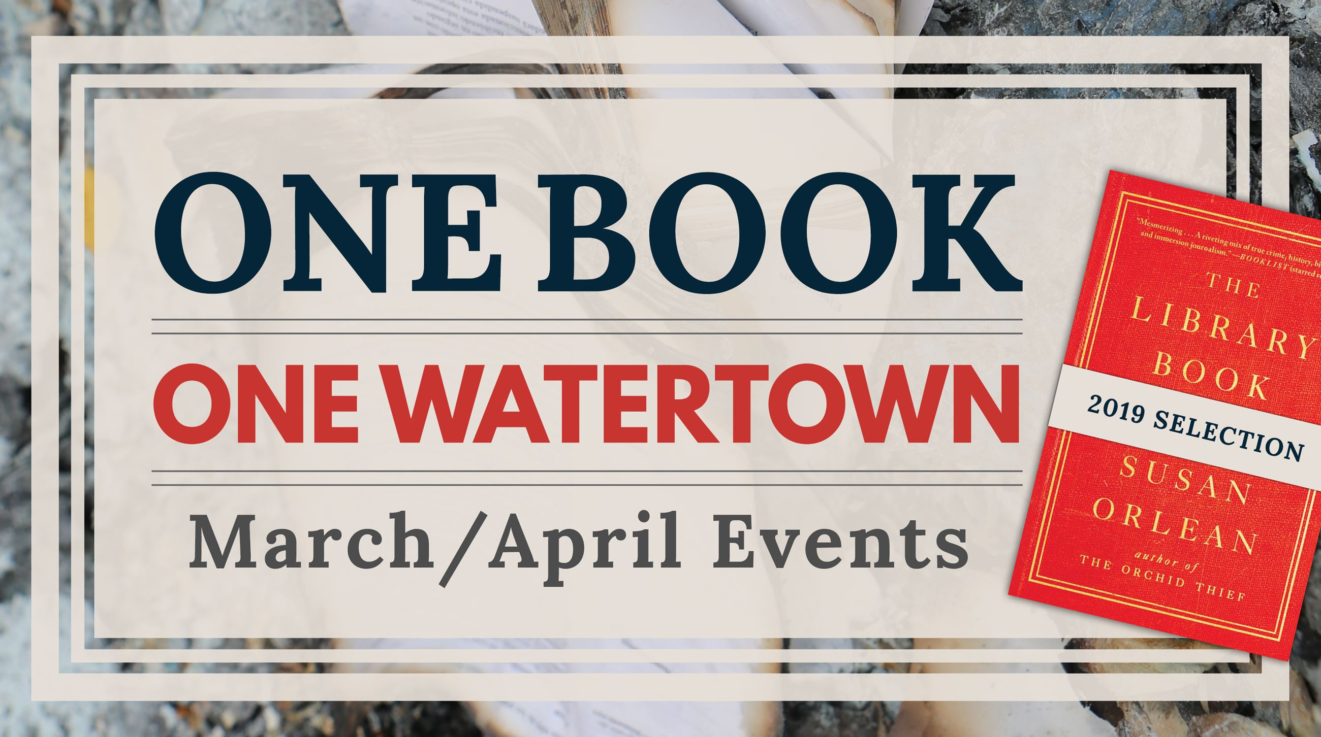 One Book, One Watertown 2019 event schedule is now available