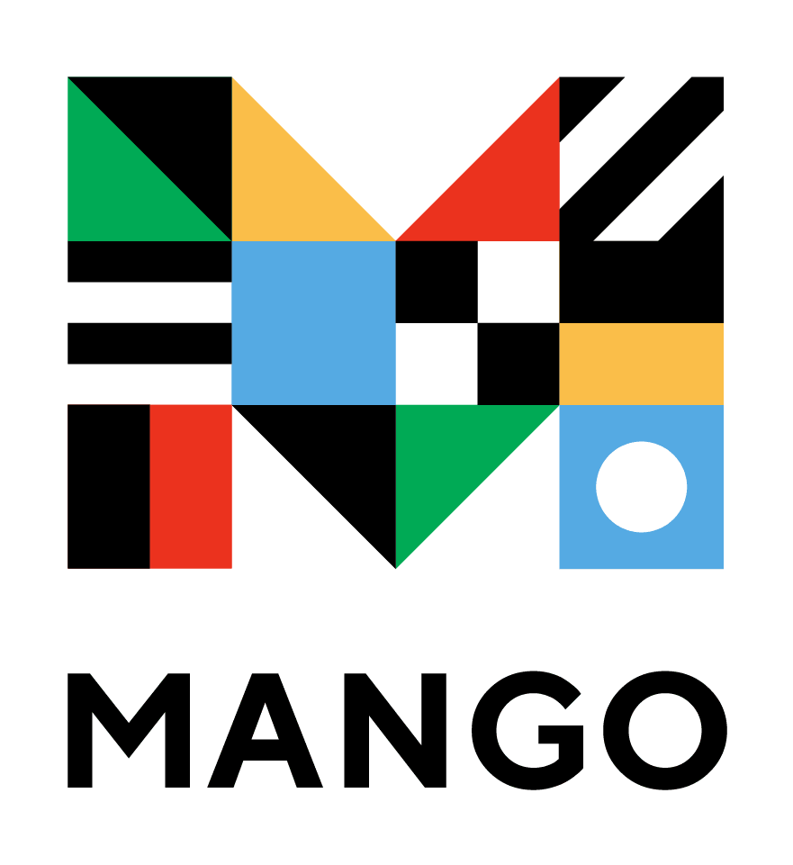Illustrated mango with sparkles around it