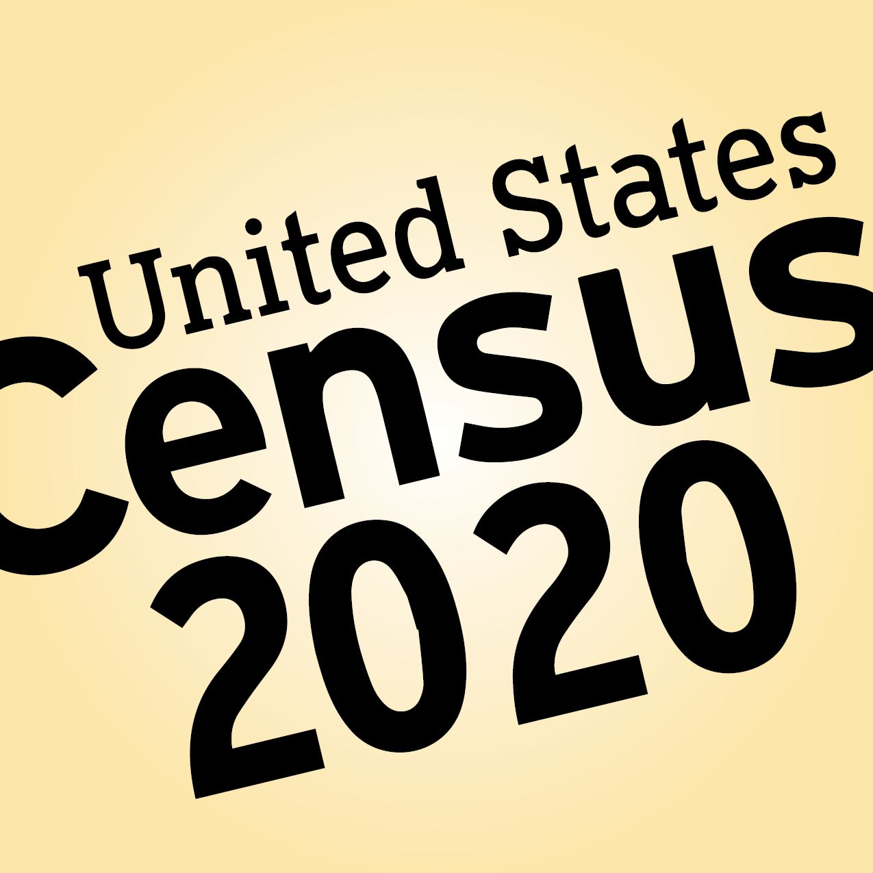 "Image with the text, ""United States Census 2020"""
