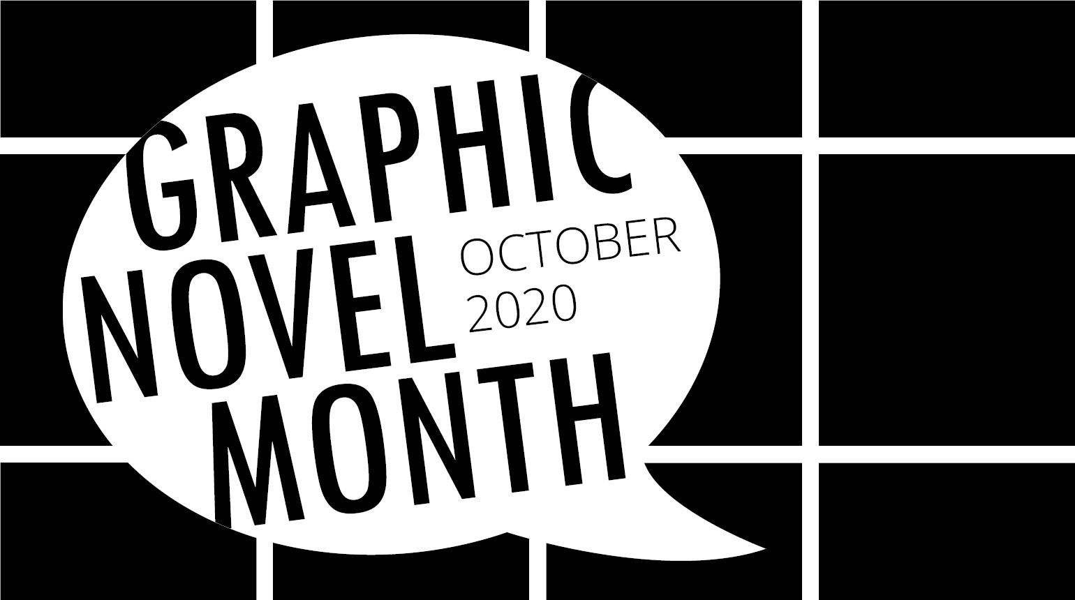 "Banner with the text, ""Graphic Novel Month: October 2020"""